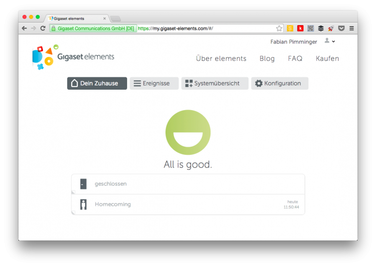 Gigaset Elements Browser
